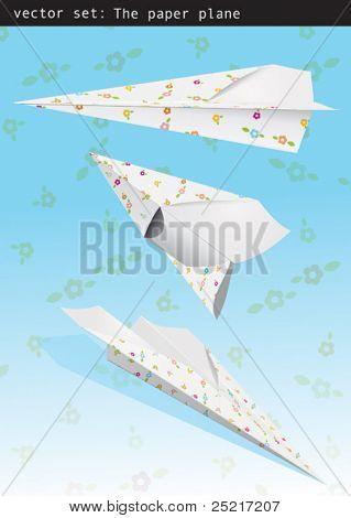 Set vector - paper plane