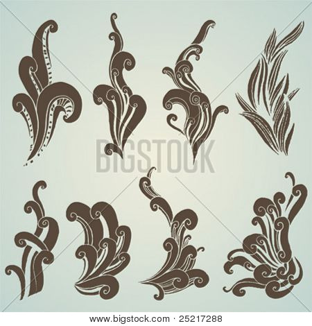 vector set: swirls