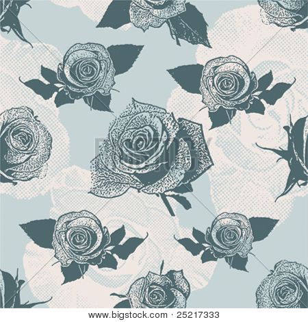Floral seamless Pattern mit rose