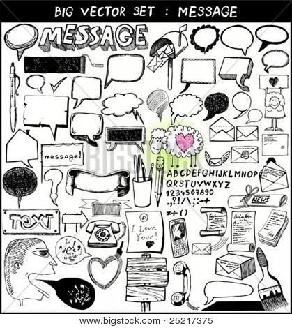 big vector set : message
