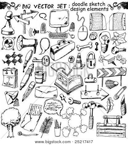 grande vector set: Doodles