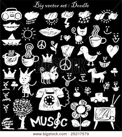 vector set : doodle