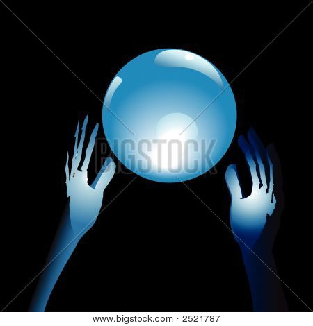 Blue Cyrstal Ball & Hands