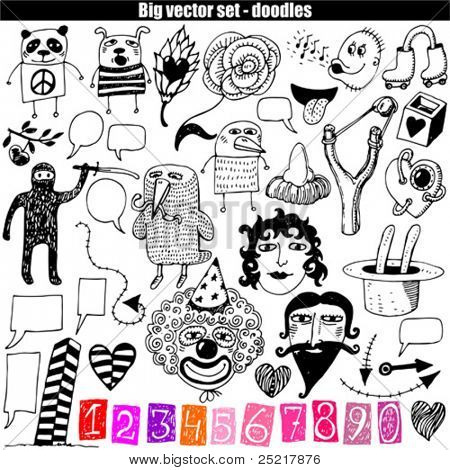 vector set - doodles