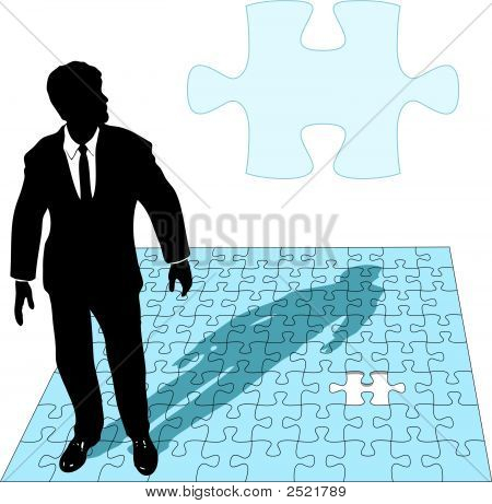 Business Man Jigsaw Puzzle Solution