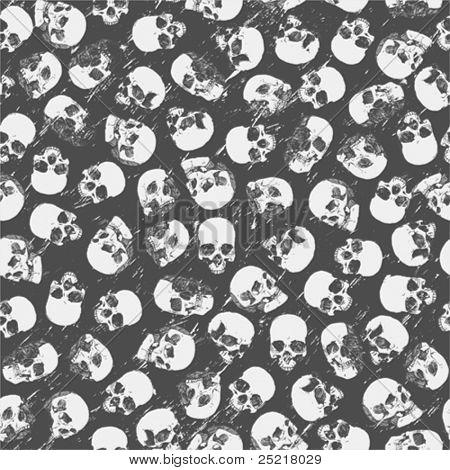 nahtlose Muster mit Schädeln