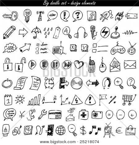 Conjunto de iconos de Doodle - web & internet