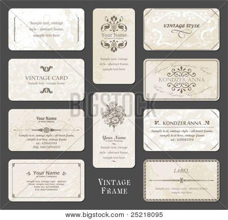 juego de tarjetas Vintage