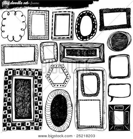 doodle grande conjunto - elementos de design
