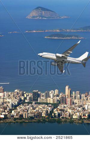 Avión sobre Rio De Janeiro Brasil