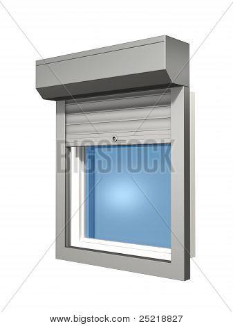 construcción de sistema de obturador de ventana