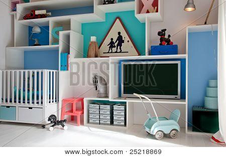 Child Room In Retro Style