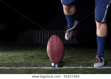 Football Kickoff Closeup