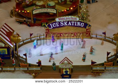 Toy Skating Rink In Motion
