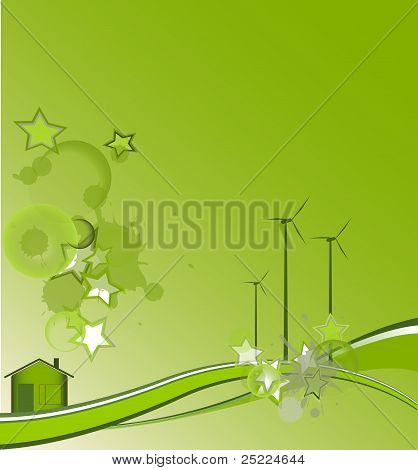 Green House With Stars