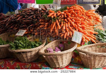 Vegetables at a local farmer's market