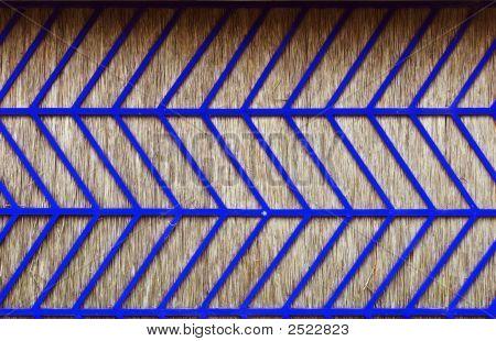 blau Stroh Wand