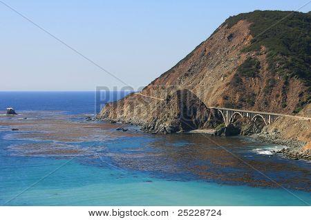 Pacific coastline at Saddle Rock Ranch. Monterey County, California