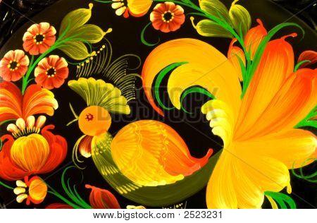 Casket, Khokhloma Painting Handicraft.