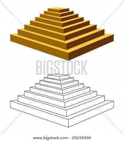 Zwei Pyramiden.