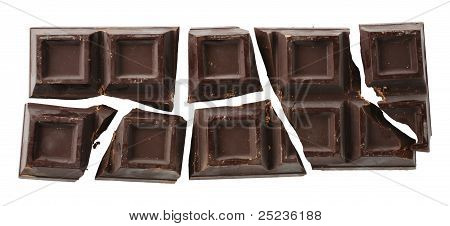 Cracked Chocolate Bar