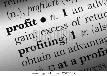 Profit Word Dictionary Term