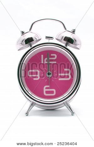 Pink Alarm Clock Front Perspective