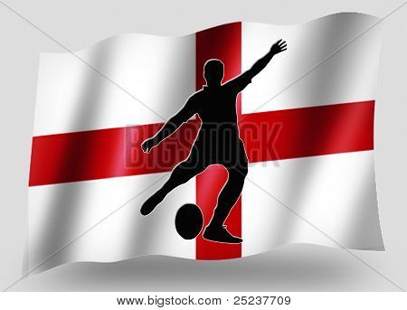 Country Flag Sport Icon Silhouette English Rugby Place Kick