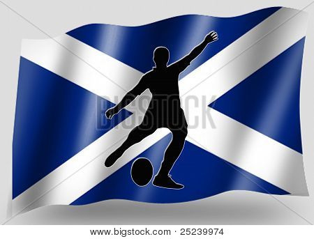 Country Flag Sport Icon Silhouette Scottish Rugby Place Kicker