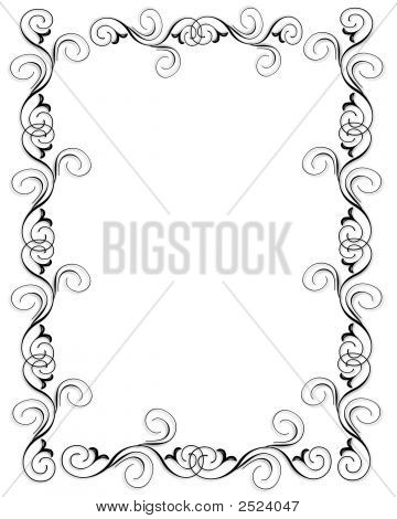 Black And White Scroll Border