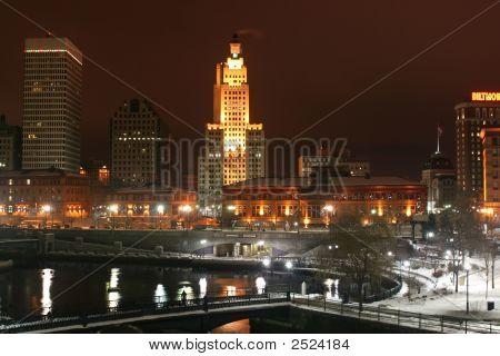 Providence, Rhode Island Winter Skyline