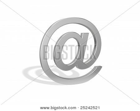 Email Symbol On The White Background