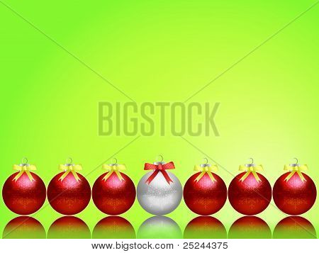Christmas balls for the background.
