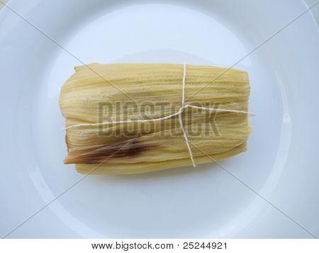Latin American food, sweet tamale