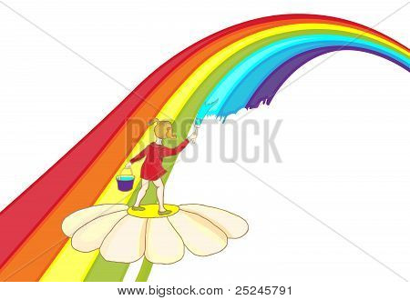 A Child Paints A Rainbow