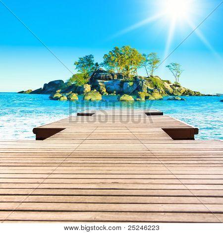 Lagune Rock Sonnenschein Exotic