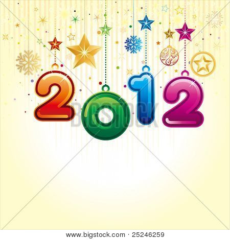 vector illustration of happy new year 2012