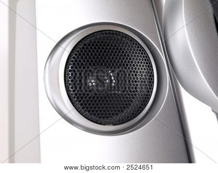 Silver Boom Box Stereo Tweeter