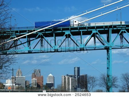 Truck On A Bridge