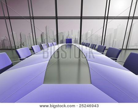 Interior de sala de conferencia