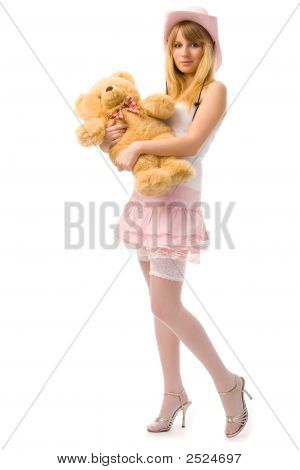 Woman With Toy