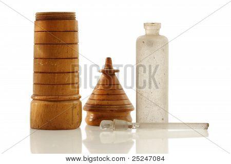 Antique Wooden Perfume Vial