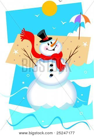 Christmas in July Vector Illustration