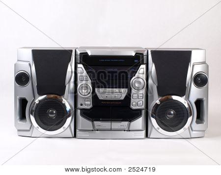 silberne Boom Box stereo