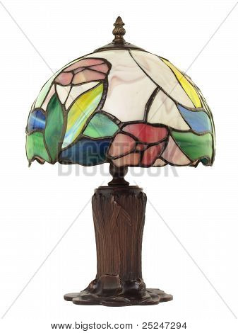 Small Leaded Glass Lamp