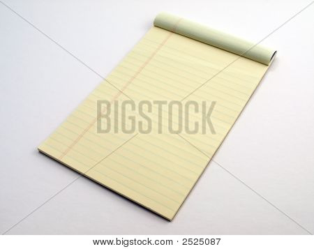Yellow Legal Pad Page Flipped