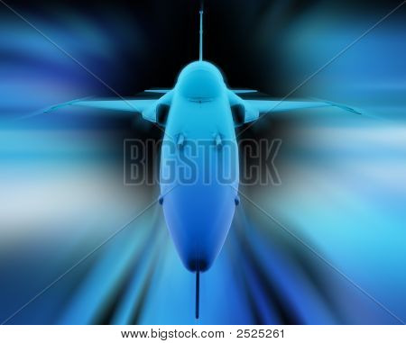 3D Fighter Jet. Front View