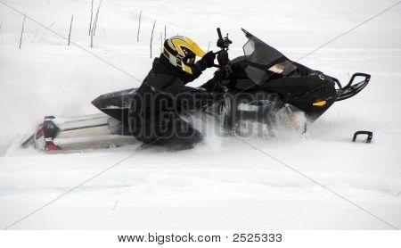 Stock Snowmobiler