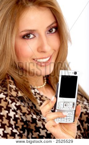 Girl Showing Her Phone