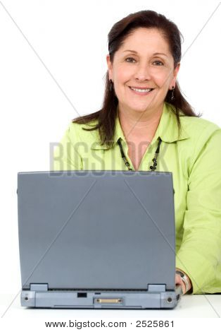 Senior Woman On A Laptop